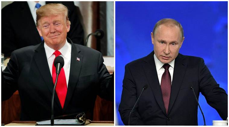 Vladamir Putin, Putin, Donald Trump, Trump, America, Russia, INF treaty, USA, new arms race, China, world news, America news, Russia news, Indian Express