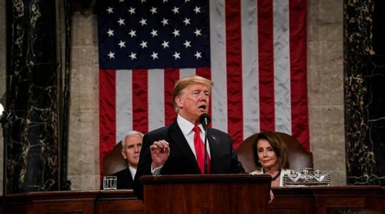donald trump, us, trump state of the union address, trump kim second summit, north korea, kim jong un, us north korea relations, us sanctions, denuclerization, korean war, hanoi, vietnam, stephen biegun, pyongyang, world news, indian express news