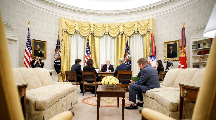 Donald Trump, Donald Trump white house, Donald Trump wall, Border wall, Border wall US, US Mexico Border wall, US Syria, Syria US, Donald Trump Syria, Trump towers, Donald Trump interview, Indian express, world news, latest news