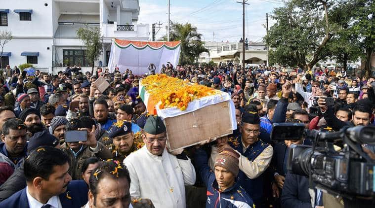 Kashmir, Pulwama, Kashmir attack, Pulwama attack, CRPF kashmir attack, pulwama crpf, JEM attack, kashmir terror attack, crpf convoy attack, funeral crpf jawans, up funeral crpf, bihar crpf funeral, kolkata funeral, kashmir attack funeral, indian express, latest news