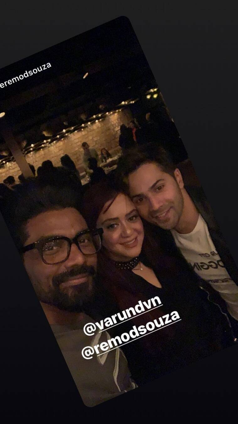 varun dhawan on super dancer sets