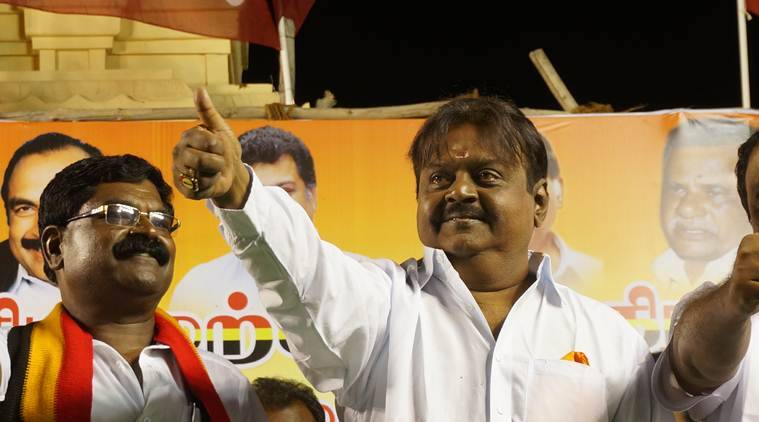 Vijayakanth's party turns right, but the leader is still silent