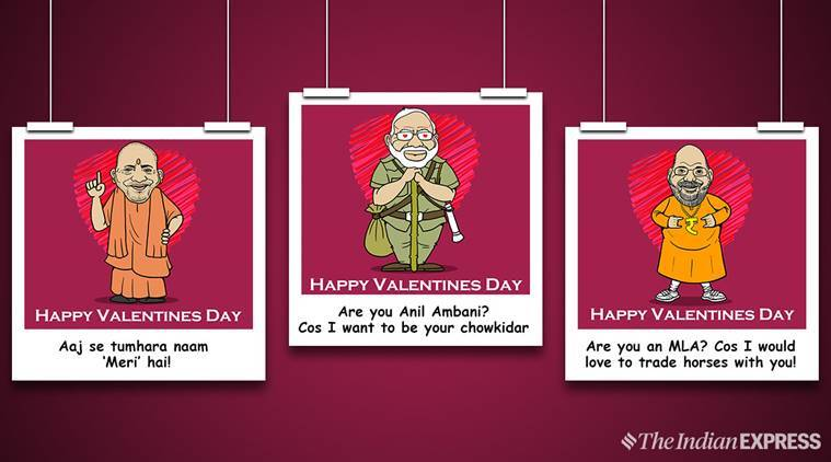 Valentine's Day, Narendra Modi, Rahul Gandhi, BJP, Congress, Congress wishes BJP valentine's day, BJP vs Congress, 2019 elections, trending, india news,