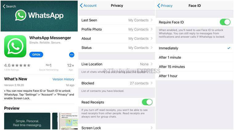 WhatsApp for iOS enables Face ID, Touch ID for iPhone | Technology