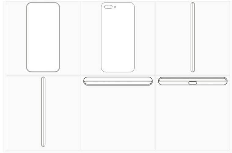 xiaomi design patent, curved display, wipo