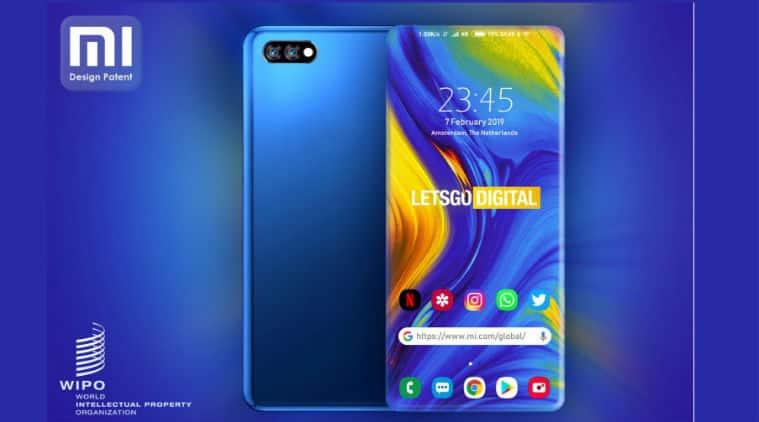 xiaomi, xiaomi design patent, desgin patent, four side phone, bezel less design, four side curve display, xiaomi new design, xiaomi four side curve display, four side curved display, all side curve display