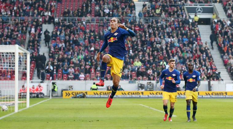 Yussuf Poulsen double helps RB Leipzig close in on top three