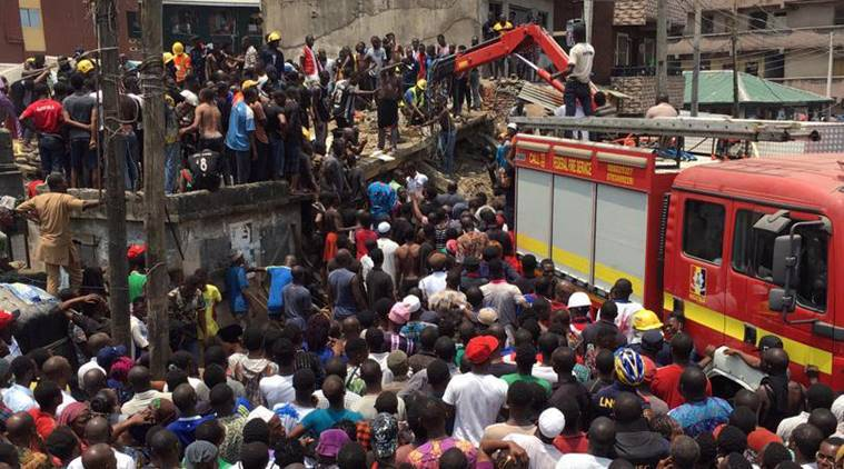 Nigeria school building collapse killed 20 people -Lagos health official