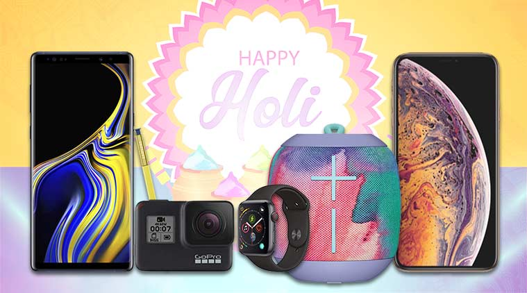 Holi, Holi 2019, Holi 2019 gadgets, Holi 2019 waterproof gadgets, waterproof gadgets, waterproof smartphone, Apple iPhone Xs Max, Samsung Galaxy Note 9, Ultimate Ears Wonderboom Freestyle, GoPro Hero7, GoPro, Apple, iPhone, Samsung, Samsung Gear Sport, Apple Watch 4, Jabra, Jabra Elite Active 65t