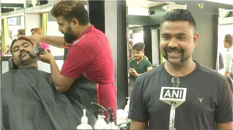 abhinandan varthaman, iaf abhinandan moustache, abhinandan haircut. abhinandan gunslinger, viral news, good news, india news, indian express