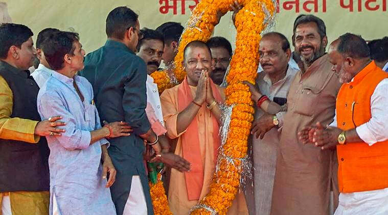 Yogi targets Cong: 'A family starts visiting temples when polls are near'