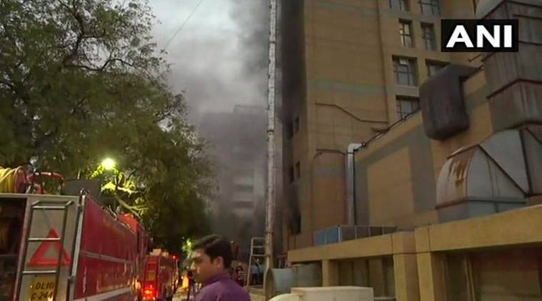 delhi aiims fire, aiims fire, aiims trauma centre fire, delhi fire, delhi news