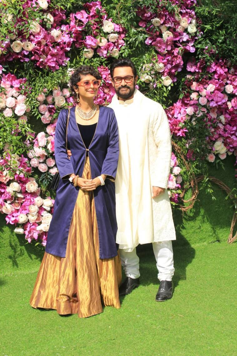 aamir khan and kiran rao at akash ambani and shloka wedding