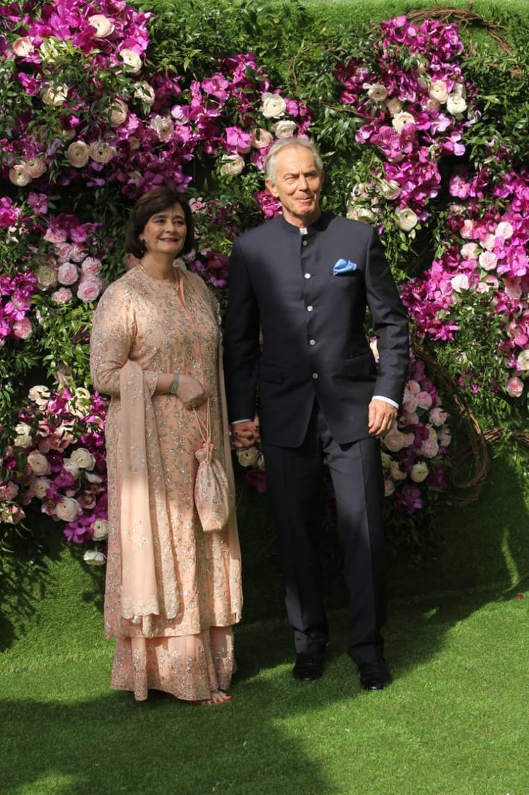 tony blair akash ambani wedding