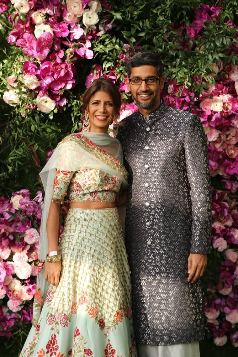 sundar pichai at akash ambani wedding