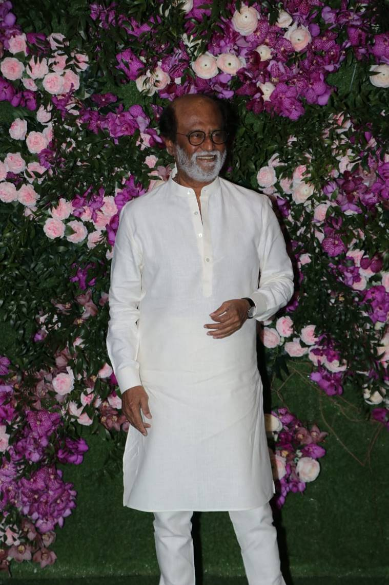 rajinikanth at akash ambani wedding