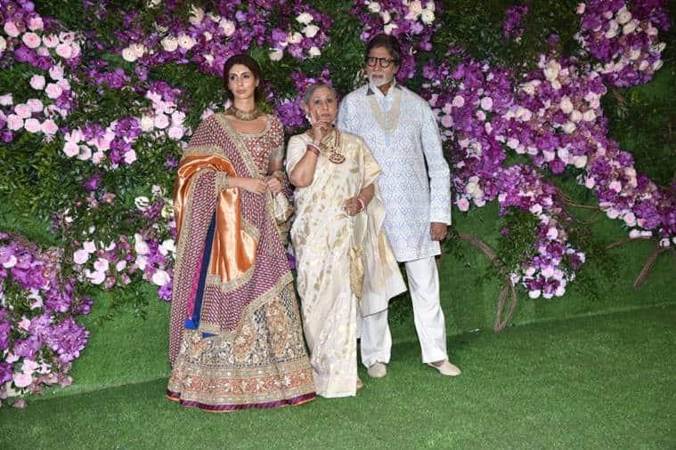 amitabh bachchan at akash ambani wedding