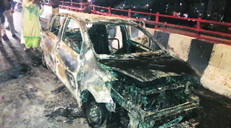 Short circuit caused Akshardham car fire, say police; woman's kin allege foul play