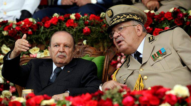 algeria, algeria protests, Ahmed Gaid Salah, president Abdelaziz Bouteflika, Abdelaziz Bouteflika, Bouteflika, algiers, Algeria President Abdelaziz Bouteflika, algeria president, protests against algeria president, protests in algeria, world news, indian express news