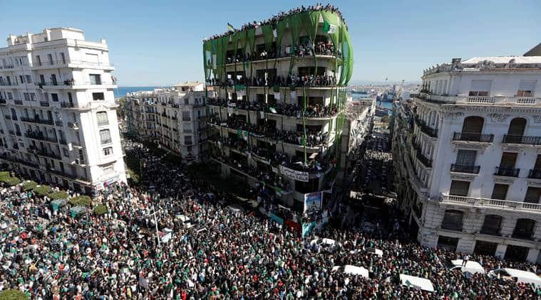 Algeria, Algeria protest, Protest in Algeria, Algeria news, Abdelaziz Bouteflika, Algeria uprising, Algeria protest news, protest in Algeria, Algeria president, president of algeria, Bouteflika, Indian Express, latest news