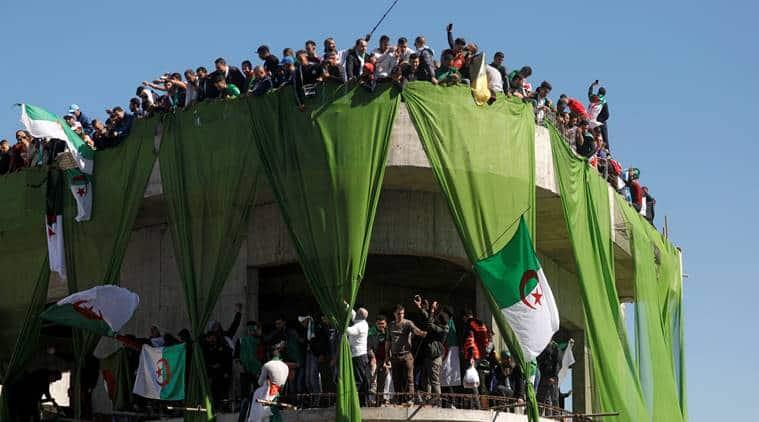 Algeria, Algeria protest, Arab spring, Arab spring Algeria, Protest in Algeria, Algeria news, Abdelaziz Bouteflika, AAlgeria uprising, Algeria protest news, protest in Algeria, Algeria president, president of algeria, Bouteflika, Indian Express, latest news