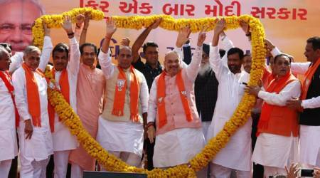 Amit Shah carries out road show before filing nomination for Gandhinagar Lok Sabha seat