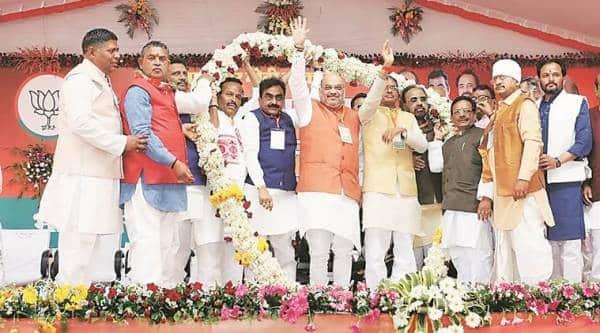 amit shah bjp, Chhattisgarh elections, Madhya Pradesh elections, bjp rally today, narendra modi, elections 2019, lok sabha elections 2019, India news, Indian express