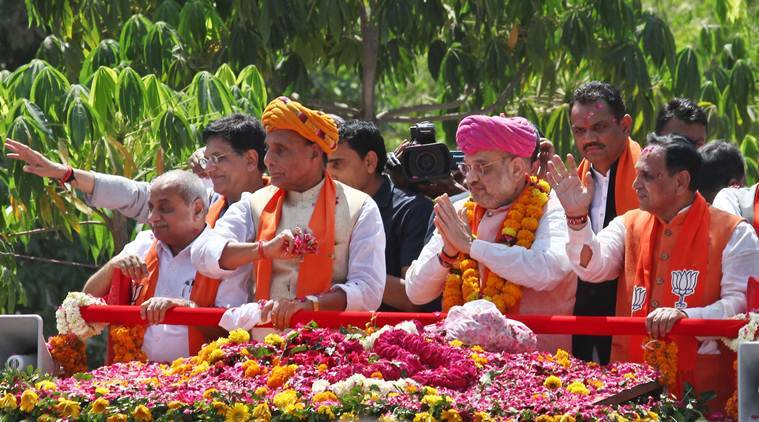 With allies and top BJP leaders by his side, Amit Shah files nomination