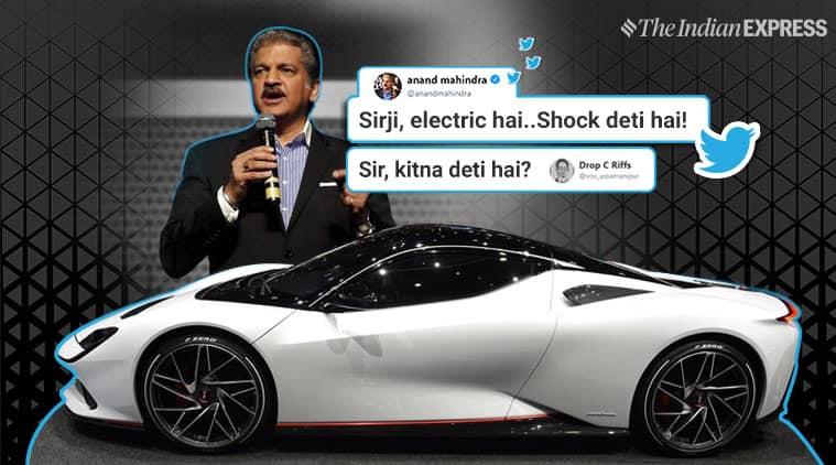 anand mahindra, Battista, Pininfarina, Automobili Pininfarina battista, fastest electric car, Automobili Pininfarina hypercar, anand mahindra funny tweets, viral news, funny news, indian express