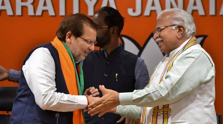 Three-term Haryana MP Arvind Sharma joins BJP
