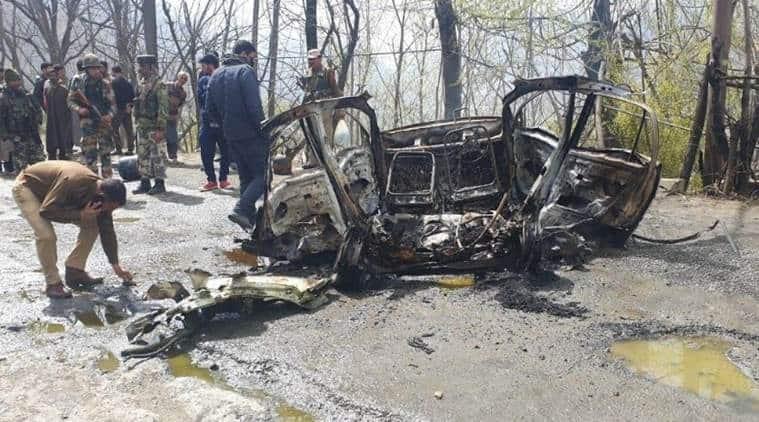 Banihal attack, banihal terror attack, Hizb ul mujahideen, CRPF convoy attack, jaish e mohammad,  Jammu and Kashmir police, CRPF, India News, Indian Express