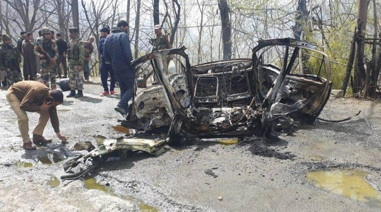 Banihal attack, banihal terror attack, Hizb ul mujahideen, CRPF convoy attack, jaish e mohammad,  Jammu and Kashmir police, CRPF, India News, Indian Express