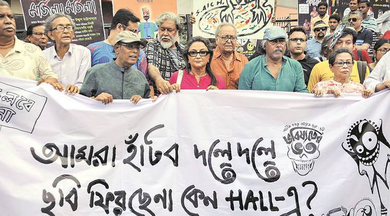 Bhobishyoter Bhoot: Actors, filmmakers take out rally to protest withdrawal of film from theatres