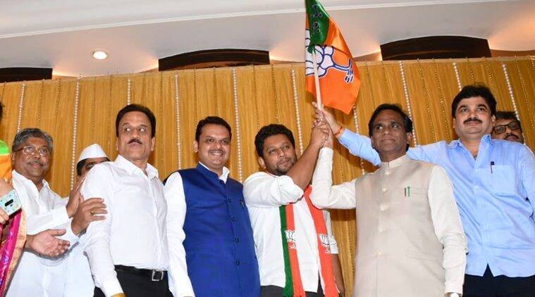 lok sabha elections, lok sabha elections 2019, sujoy vikhe patil, bjp, sujoy vikhe patil joins bjp, mumbai, maharashtra, congress, ncp, indian express news