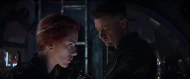 black widow and hawkeye in avengers endgame trailer