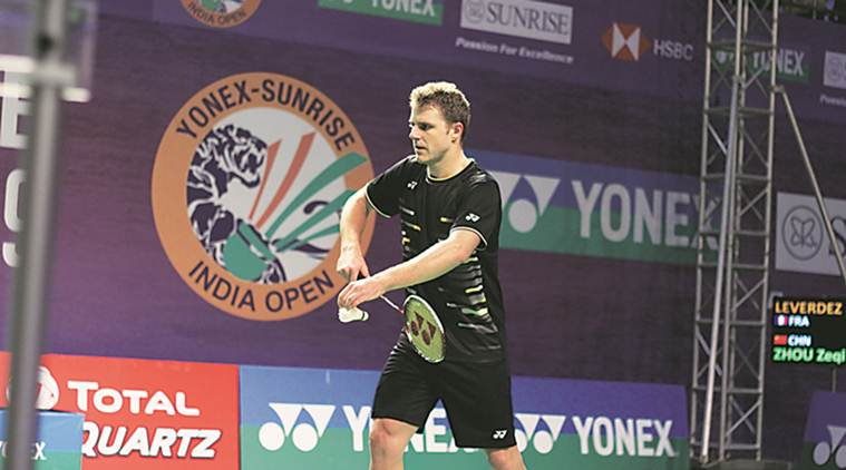 India open, yonex-sunrise india open, india open news, Brice Leverdez, Brice Leverdez India open, badminton news, sports news, indian express