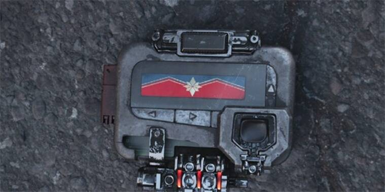 captain marvel pager in avengers infinity war