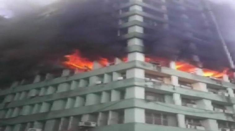 Fire breaks out at CGO Complex, in New Delhi; 24 fire tenders at the spot