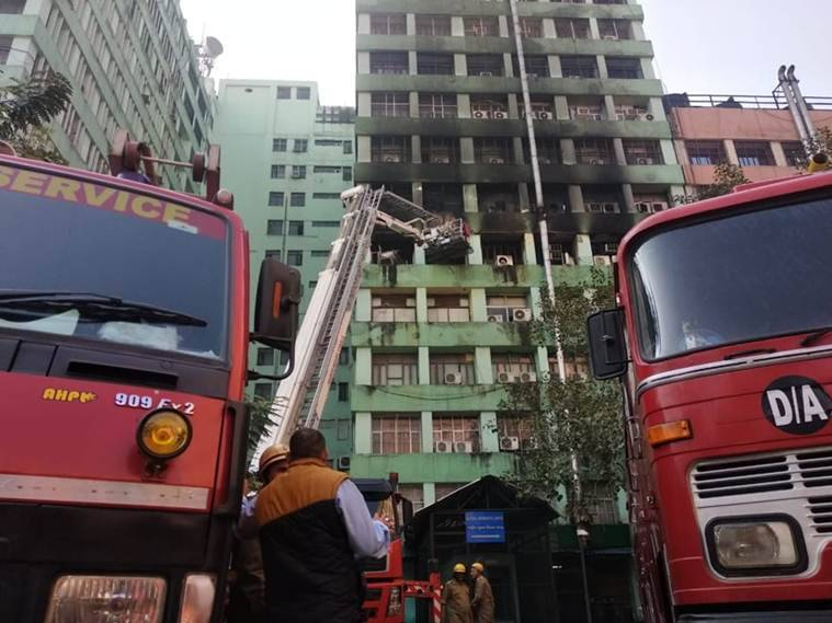Fire breaks out at CGO Complex in New Delhi; 24 fire tenders at the spot