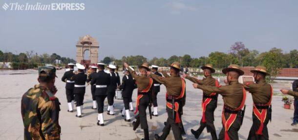 First change of guard at National War Memorial
