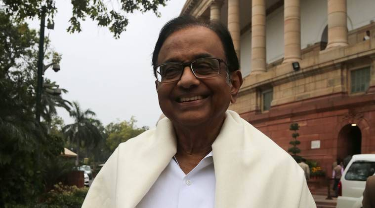 Former Union minister and Congress leader P Chidambaram.