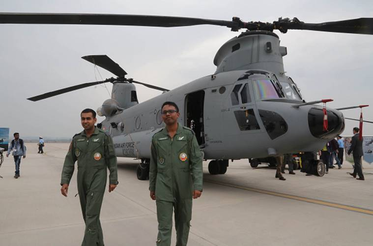 chinook, chinook helicopter, indian air force, chandigarh air force station, chandigarh news, new type of aircraft, indian express