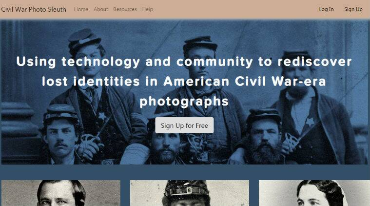 Civil War Photo Sleuth, facila recognition, US civila War, Civil War photos US, Kurt Luther, facial recognition for US Civil War photos, Civil War soldier portraits, US Military History Institute