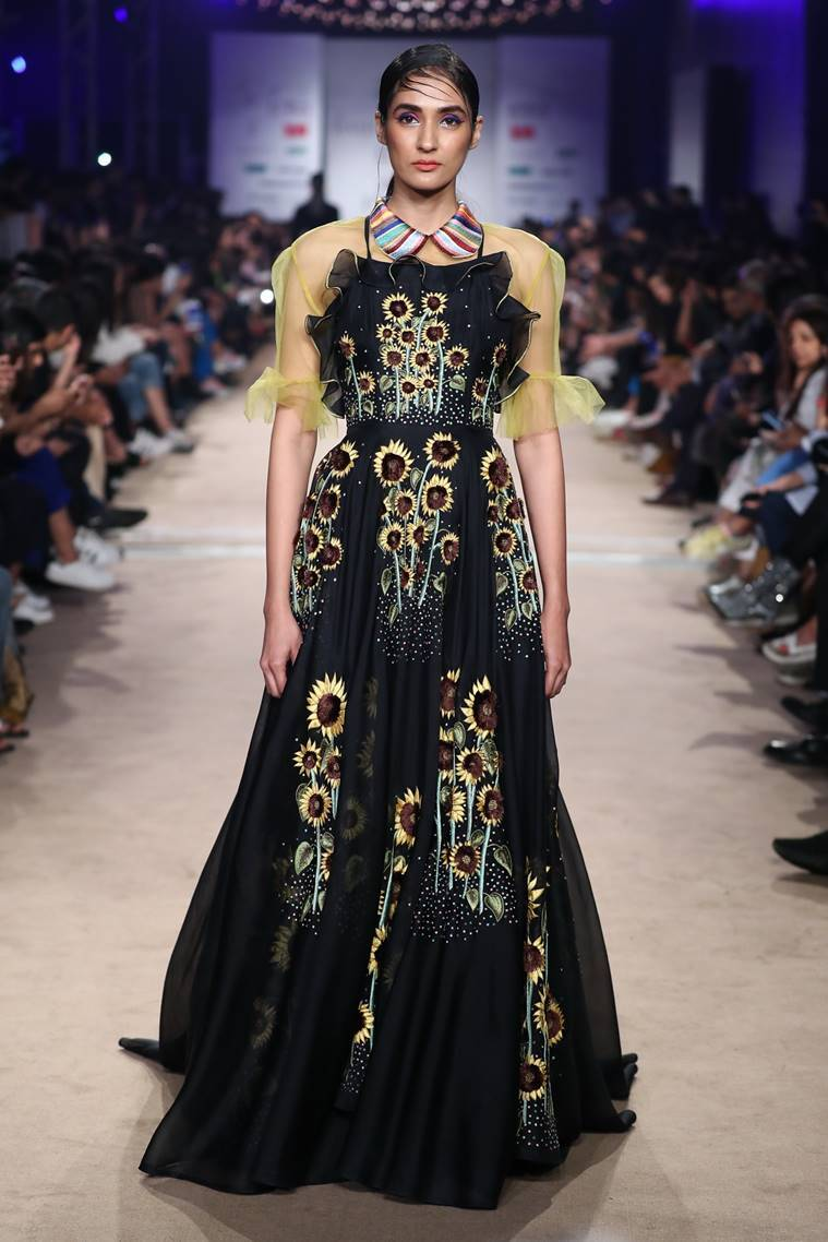 Designer Rahul Mishra, FDCI LMIFW AW 19, lotus india fashion week, indian express, indian express news
