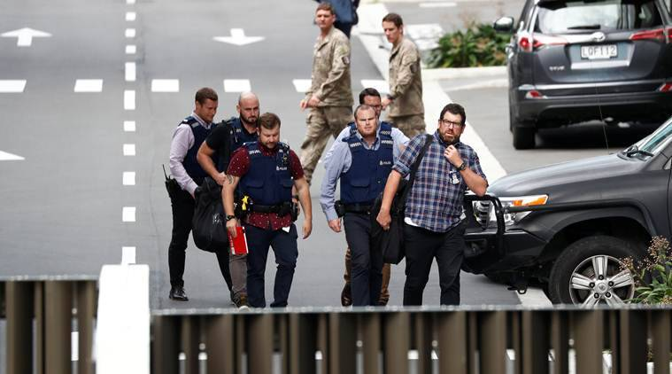 Christchurch Shooting Picture: Christchurch Mosque Shooting: Handcuffed, Barefoot, Main