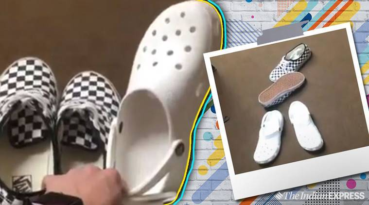 Crocs shoe flip challenge  Here is why netizens are throwing their ... a599699b9