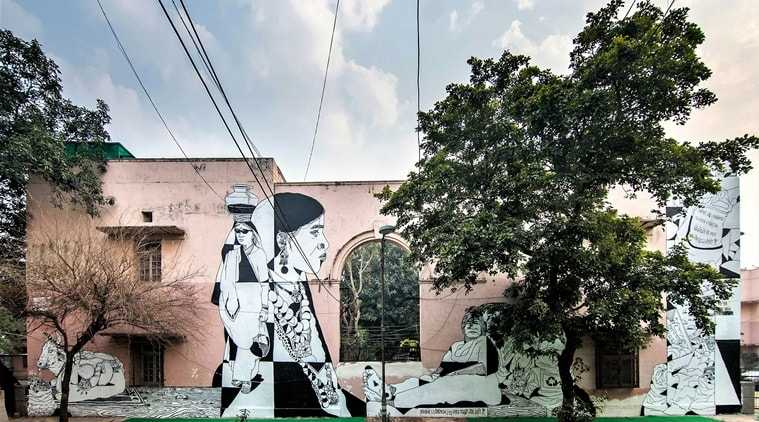 Lodhi Art Festival 2019, Urban Art Festival, Delhi Street Art, St+art India Foundation, India's first open public art district, Indian express, Indian express news,