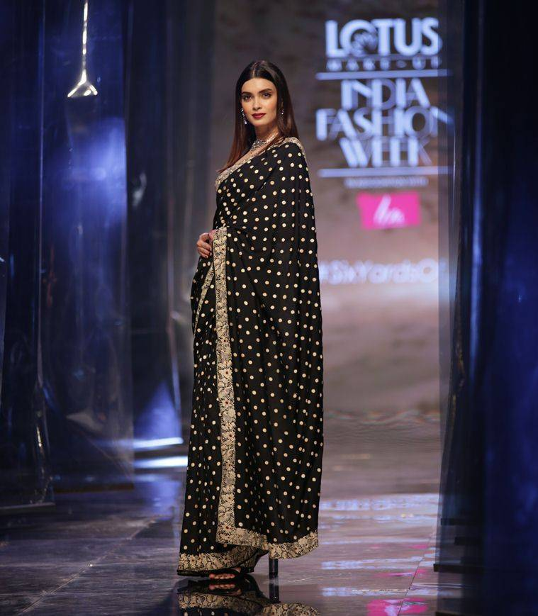 Diana Penty, Diana Penty photos, Diana Penty pics, Diana Penty latest, Diana Penty sari, Diana Penty Lotus Make-Up India Fashion Week, Lotus Make-Up India Fashion Week, Lotus Make-Up India Fashion Week highlights