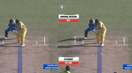 india vs australia, ind vs aus, drs controversy, aaron finch lbw, cricket drs, decision review system, cricket news, sports news, indian express