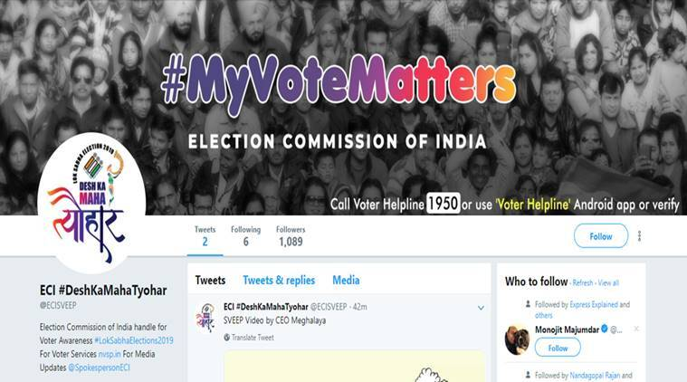 Election Commission of India is finally on Twitter